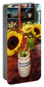 Vase Of Sunflowers Portable Battery Charger