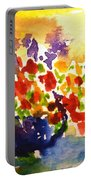Vase With Multicolored Flowers Portable Battery Charger