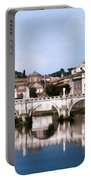 Vatican City Seen From Tiber River Portable Battery Charger