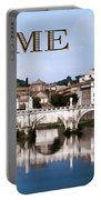 Vatican City Seen From Tiber River Text  Rome Portable Battery Charger