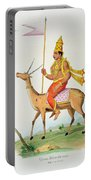 Vayu, Engraved By C. De Motte Portable Battery Charger