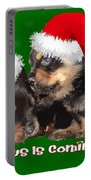 Vector Santa Paws Is Coming To Town Christmas Greeting Portable Battery Charger