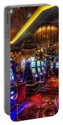 Vegas Slot Machines Portable Battery Charger by Yhun Suarez