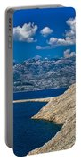 Velebit Mountain From Island Of Pag Portable Battery Charger