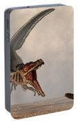 Velociraptor Chasing Small Mammal Portable Battery Charger