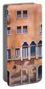 Venetian Building Wall With Windows Architectural Texture Portable Battery Charger