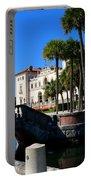Venetian Style Bridge And Villa In Miami Portable Battery Charger