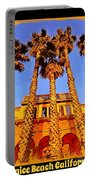 Venice Beach Poster Portable Battery Charger