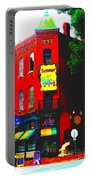 Venice Cafe' Painted And Edited Portable Battery Charger