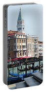 Venice Gondolas On Canal Grande Portable Battery Charger