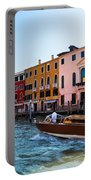 Venice Grand Canal View Italy Sunny Day Portable Battery Charger