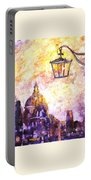 Venice Italy Watercolor Painting On Yupo Synthetic Paper Portable Battery Charger