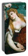 Venus Mars And Cupid Crowned By Victory Portable Battery Charger