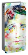 Vera Brittain - Watercolor Portrait Portable Battery Charger