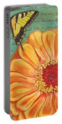 Verdigris Floral 1 Portable Battery Charger