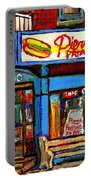 Verdun Restaurants Pierrette Patates Pizza Poutine Pepsi Cola Corner Cafe Depanneur - Montreal Scene Portable Battery Charger