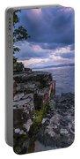 Vermont Lake Champlain Sunset Clouds Shoreline Portable Battery Charger