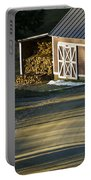 Vermont Maple Sugar Shack Sunset Portable Battery Charger by Edward Fielding