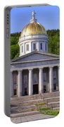 Vermont State Capitol In Montpelier  Portable Battery Charger