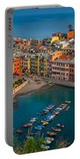 Vernazza Pomeriggio Portable Battery Charger by Inge Johnsson