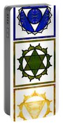 Vertical Columns Of Energy Abstract Chakra Art By Omaste Witkows Portable Battery Charger