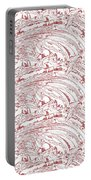 Vertical Panoramic Grunge Etching Burgundy Color Portable Battery Charger