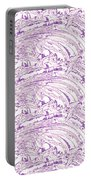 Vertical Panoramic Grunge Etching Purple Color Portable Battery Charger