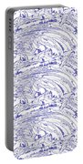 Vertical Panoramic Grunge Etching Royal Blue Color Portable Battery Charger