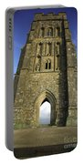 Vertical View Of Glastonbury Tor Portable Battery Charger