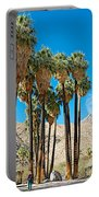 Very Tall Fan Palms In Andreas Canyon In Indian Canyons-ca Portable Battery Charger