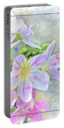 Very Tiny Wildflower Boquet Digital Paint Portable Battery Charger