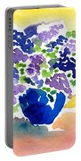 Vase With Lilas Flowers Portable Battery Charger