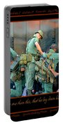 Veterans At Vietnam Wall Portable Battery Charger by Carolyn Marshall