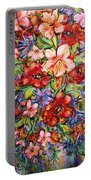 Vibrant Blooms Portable Battery Charger