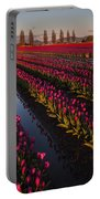 Vibrant Dusk Tulips Portable Battery Charger