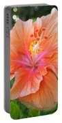 Vibrant Hibiscus Portable Battery Charger