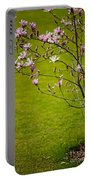 Vibrant Pink Magnolia Blossoms Portable Battery Charger