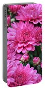 Vibrant Pink Mums Portable Battery Charger