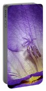 Vibrant Purple Flower Portable Battery Charger