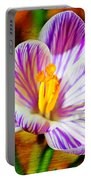 Vibrant Spring Crocus Portable Battery Charger