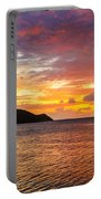 Vibrant Tropical Sunset Portable Battery Charger
