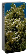 Viburnum Opulus Compactum Bush With White Flowers Portable Battery Charger