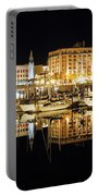 Victoria Inner Harbour At Night Portable Battery Charger