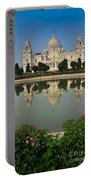 Victoria Memorial Kolkata India - Reflection On Water Portable Battery Charger