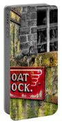 Victorian Boat Dock Sign Portable Battery Charger by Adrian Evans