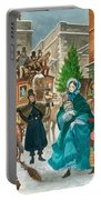 Victorian Christmas Scene Portable Battery Charger