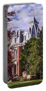 Victorian Home In Autumn Photograph As Gift For The Holidays Print Portable Battery Charger