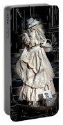 Victorian Lady Portable Battery Charger by John Haldane