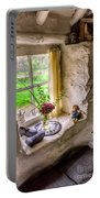 Victorian Window Portable Battery Charger by Adrian Evans
