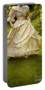 Victorian Woman Running On A Summer Lawn Portable Battery Charger